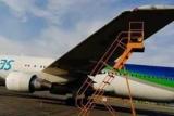 Опубліковані кадри зіткнення літаків у російському аеропорту